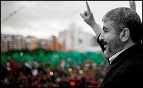Hamas chief Khalid Mashaal in Gaza