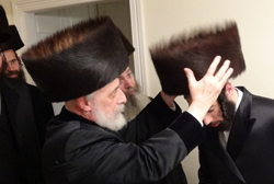 Shtreimel for the Liska chassan. (Credit: Shmuel Lenchevsky)