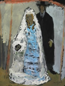 The Wedding Couple, gouache on paper by Mane-Katz Courtesy Sotheby's