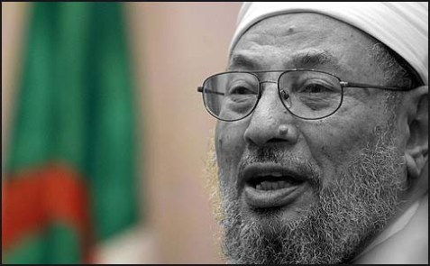 Muslim Brotherhood's chief spiritual leader Yusuf al-Qaradawi.