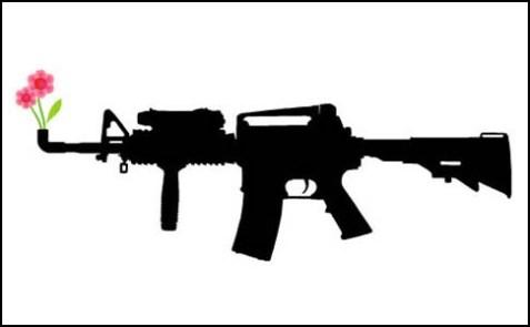 Assault weapon illustration.