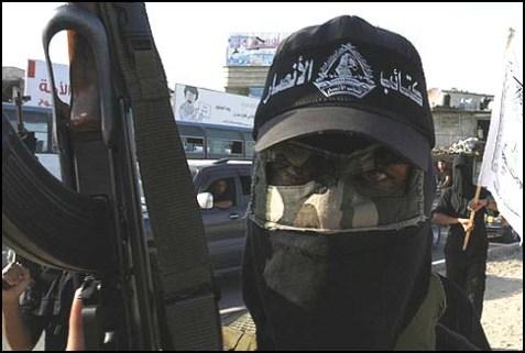 A member of Fatah's al-Ahrar Brigade.