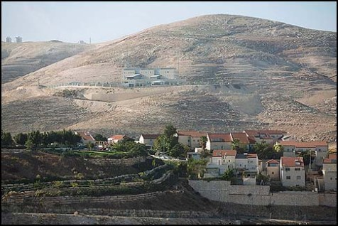 The Jewish settlement of Maaleh Adumim, east of Jerusalem.