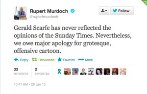 Twitter Apology from Rupert Murdoch