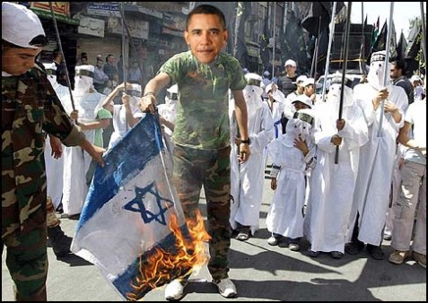 Obama burning flag