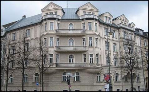 Hitler's residence in Munich, at 16 Prinzregentenplatz Street.
