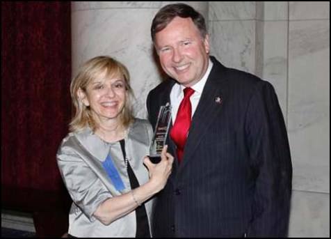 President and Founder of EMET Sarah Stern with Congressman Doug Lamborn (R-Co).