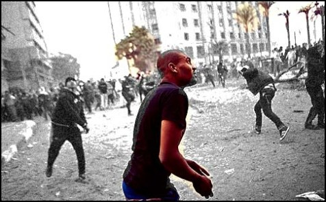Clashes erupted Saturday outside the Interior Ministry in downtown Cairo.