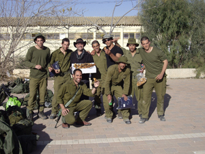 David Ehrlich delivering packages to soldiers