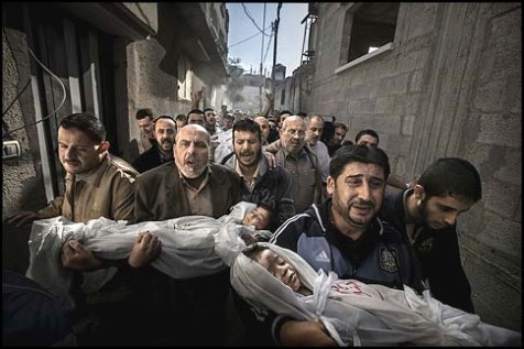 'Dead Palestinian Children' by Paul Hansen.