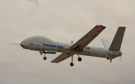 Hermes 450 UAV to patrol over FIFA Confederation Cup games in Brazil (Archive: 2013)