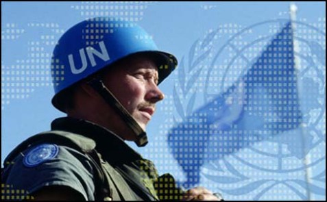 Soldier from the United Nations Interim Force in Lebanon (UNIFIL).