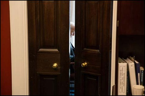 Vice President Joe Biden in his outer West Wing office at the White House.