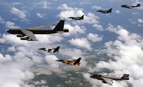 B-52 Leading a bilateral force