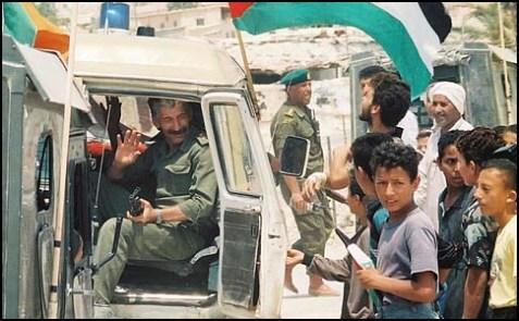 Palestinian policemen in Jericho.