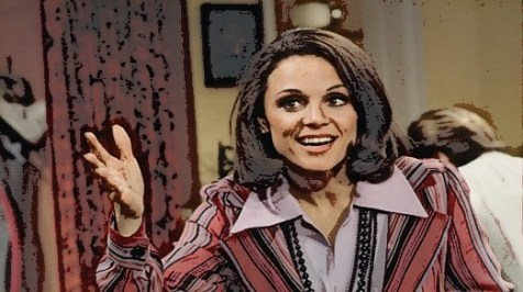 "Valerie Harper as Rhoda Morgenstern in the ""Mary Tyler Moore Show"""