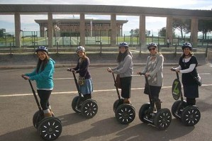 Segways around the Knesset. Photo: Segwayz The Green Tour