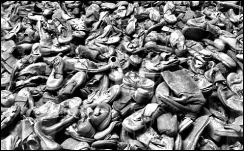 80,000 pairs of shoes in one display, a fraction of the items recycled by the Nazi's at Auschwitz.