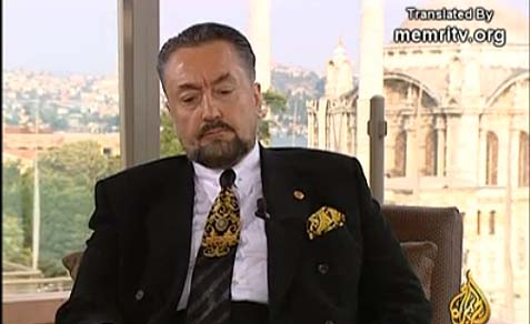 Turkish Muslim leader Adnan Oktar in Al-Jazeera TV interview.