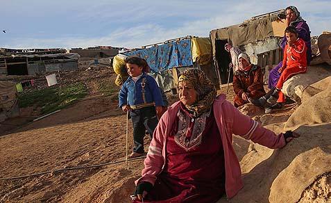 Bedouin squatters