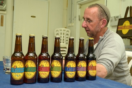 David Shire and his Scottish beer bottles in Gush Etzion