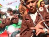 Arab children were made to rally in front of the Red Cross headquarters in Gaza City, April 17, 2012.