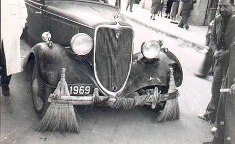 Baghdad Street cleaning car circa 1935