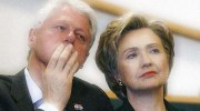 Democratic presidential candidate U.S. Senator Hillary Clinton and her husband former U.S. President Bill Clinton attend church service at Mt. Carmel Missionary Baptist Church in Waterloo, Iowa