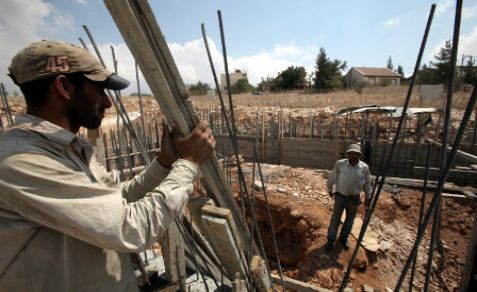 Construction project in Gush Etzion, south of Jerusalem.