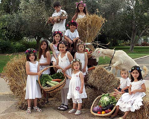 Shavuot Kids from Central Casting