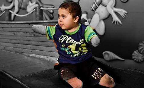 Arab child Mohammed Al-Farra.