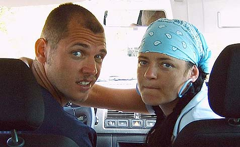 Natural born killers. Defendant Beate Zschäpe with another member of the neo-Nazi underground.