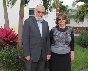Rabbi Shlomo and Rebbetzin Rochel Goldstein of Congregation Aitz Chaim.
