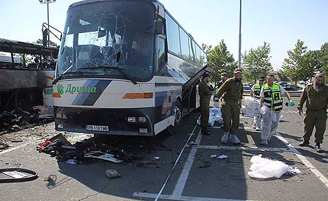 The deadly Burgas airport bombing of a bus carrying Israeli tourists, July 18, 2012, was done by agents of Hezbollah. Five Israelis and one Bulgarian national were killed in the blast.