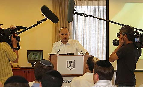 Minister of the Economy, Religious Services, Jerusalem and Diaspora Affairs Naftali Bennett.