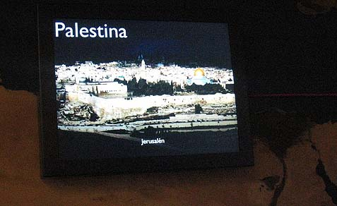 Granada Science Museum recognizes Palestine, yet not Israel.
