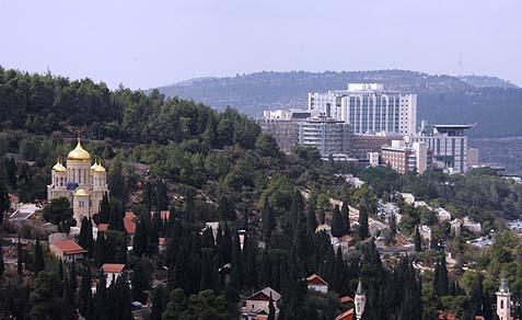 A view of Hadassah Ein Kerem Hospital.