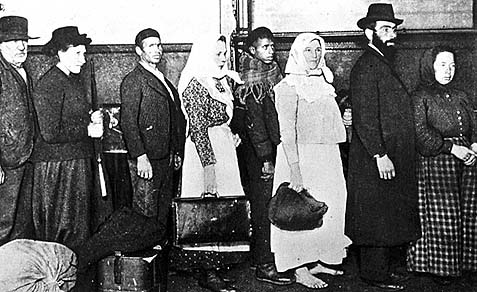 Immigrants Arriving at Ellis Island.