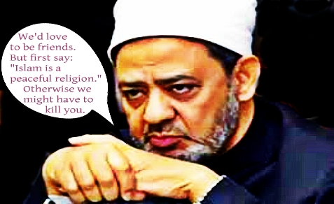 Ahmed al-Tayeb is the Imam of al-Azhar and president of al-Azhar University. His message to Pope Francis: before we can resume relations, you should tell the world Islam is a peaceful religion.