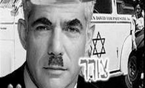 Yair Lapid dressed up as Hitler in a fake Facebook posting