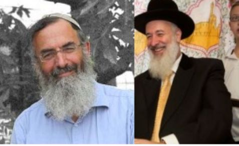 National religious Rabbi Stav,left, and Haredi Rabbi Metzger, right.