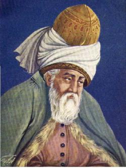 Rumi (1207-73), a leading mystic of Islam.