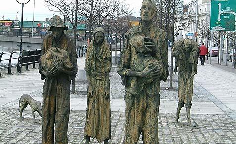 The Great Famine Memorial in Dublin