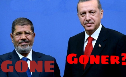 Egypt's President Mohamed Morsi was ousted by the Egyptian people, while Turkey's Prime Minister, Recep Tayyip Erdogan, feels the heat