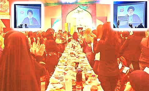Nasrallah spoke bravely at a televised post-fast banquet run by the Women's Committee of the Islamic Resistance Support Association—via a video link.