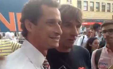 "Screen shot of Weiner's ""occupation"" video."