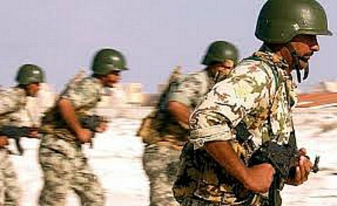 Egyptian army soldiers are part of an air-land offensive against Hamas, Al Qaeda and other jihad terrorists in the Sinai Peninsula