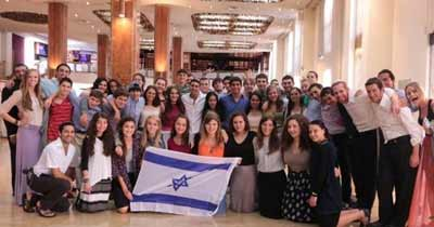 Southern NCSY teens in Israel