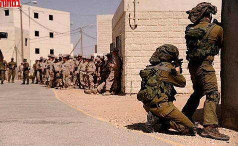US Marines IDF Givati combat soldiers 'fight it out' in joint training in Israel