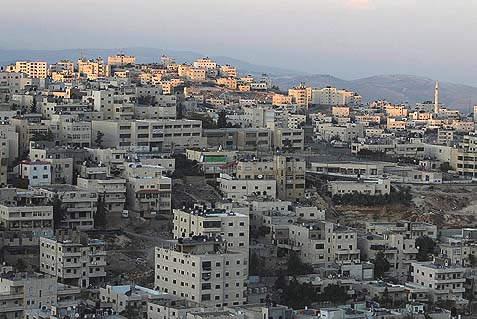 View of the Arab village of Issawiya, part of east Jerusalem. The Arab population of Jerusalem has increased compared with the Jewish population.